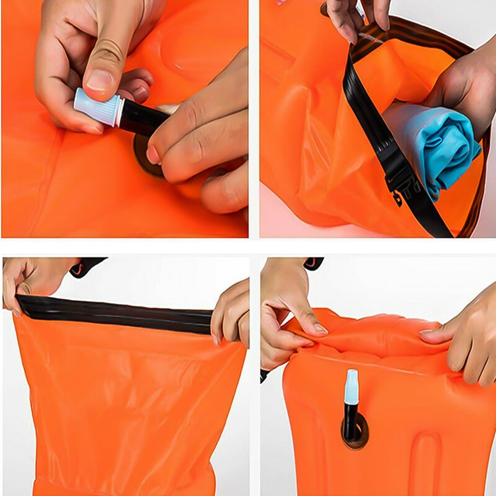 H5d8fde5eec1e478497211b5d4e6d4f87l - 1pc Float Swimming Bag Floating Inflated Buoy Air Dry Bag Safety Storage Bag with Waist Belt for Rescue Swimming Water Sport