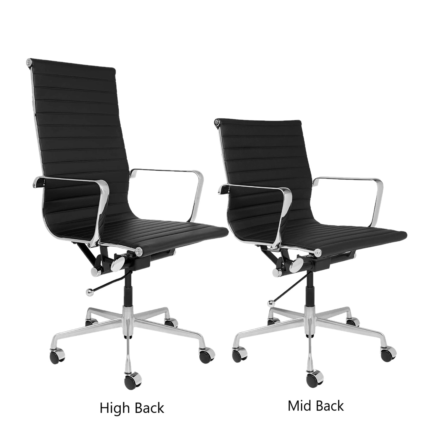 H5ea50d0e0b6f48278b9a1e23960467711 - High Back Aluminium Group Office Chair Replica Swivel Chair with Armrests Chromed Base Gaming Chair for Office Meeting Room
