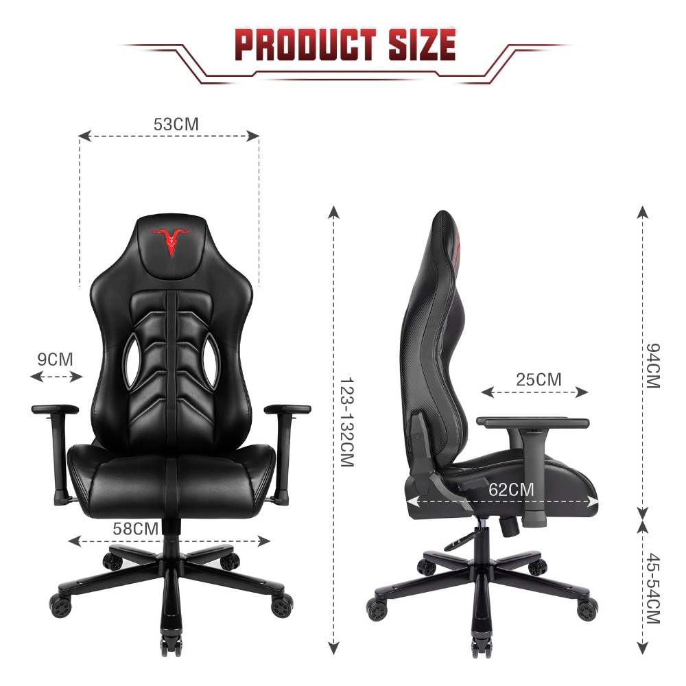 H5f34a7b427d0454a955bde4b6a7a5e7fU - Furgle ACE Series Office Chair 4D Armrest Gaming Chair Larger Seat Wider Back Side Computer Chair Swivel Leather Armchair Home