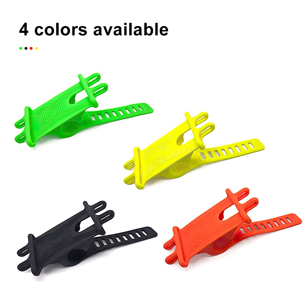 H5f42490e81234d5a9a19abf2010838e76 - Bike Phone Holder Silicone Phone Mount Universal for Bicycle Motorcycle Handlebar Stretchy Phone Holster with 360 Rotation