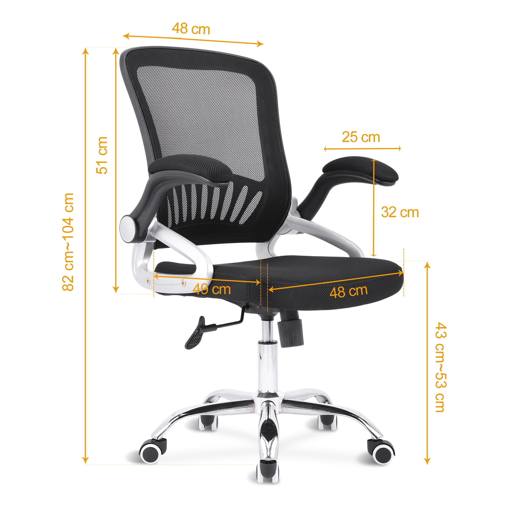 H607b3fce7fdd4f0f956a447ff6a53f913 - Sigtua Swivel Office Chair Height-adjustable Desk Chair Breathable PC Chair Comfortable Ergonomic Executive Computer Chair Black