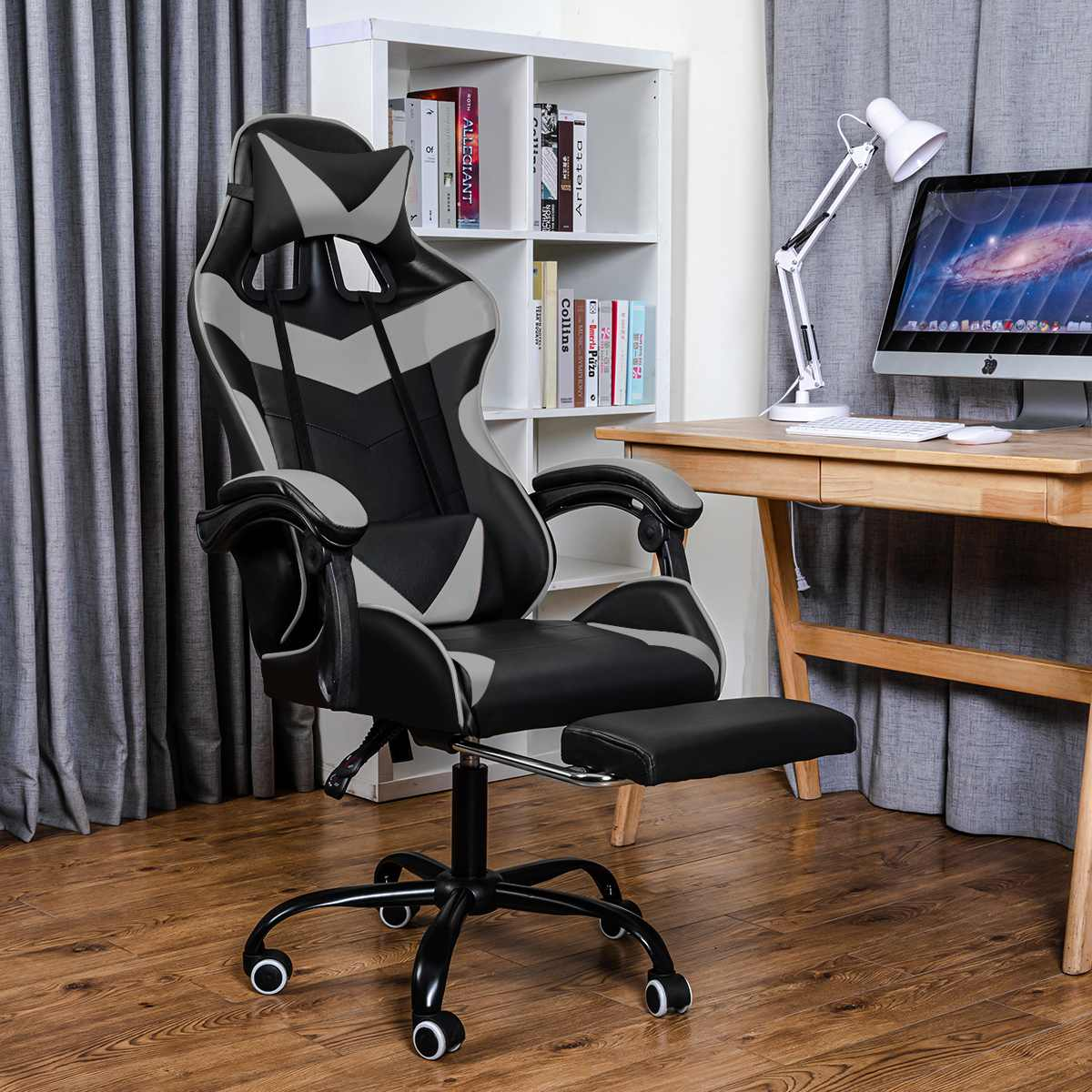 H61e2e5575f9a44afb4cc8dcffeee372bj - Office Chair Gaming Computer Chair Racing Reclining High Back Computer Game Office Chair Ergonomic Desk Chairs Chaise Gaming