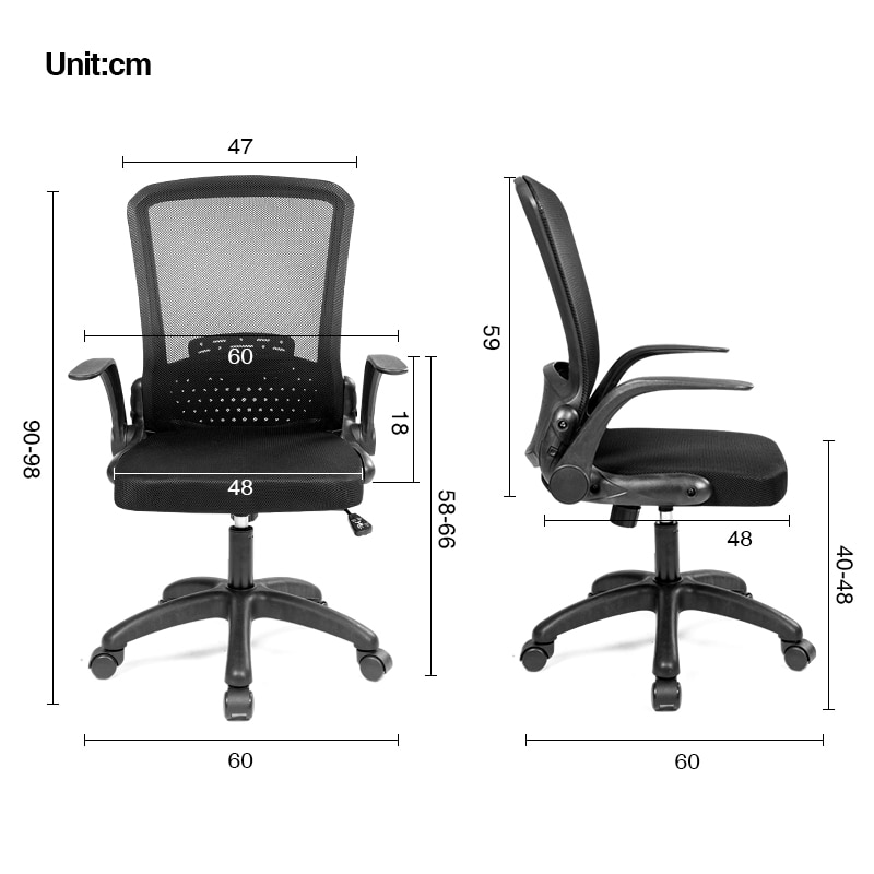 H61f97a8ecc0144e79b7c816537fb5a52q - Rotating Mesh Chair Breathable Adjustable Height Foldable Computer Chair Ergonomic Executive Black Office Chair Furniture