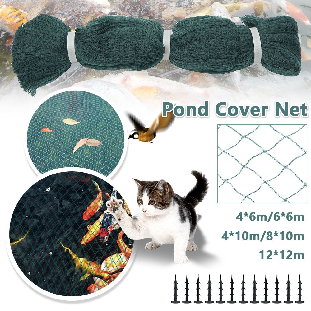 H6329da4170864a7cb66f25982aef221eW - 1pc Pond Cover Net with Pegs Anti Bird Catcher Netting Net Anti Leaves Cleaning Tools for Landscape Swimming Pool Protective Net