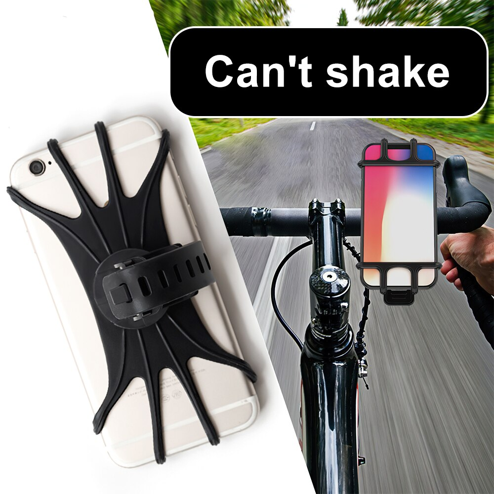 H6479e1c3c00946a68aa05b1e73f140d6z - Bike Phone Holder Silicone Phone Mount Universal for Bicycle Motorcycle Handlebar Stretchy Phone Holster with 360 Rotation