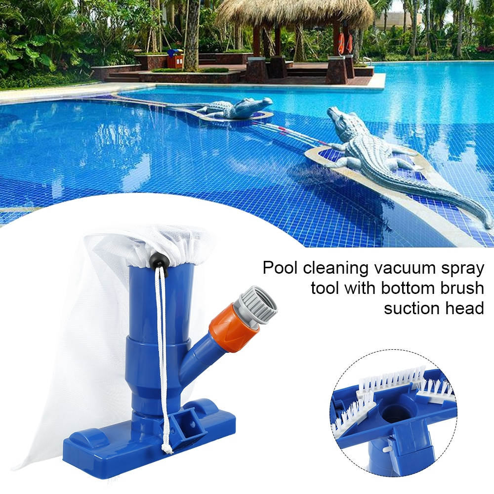 H6711c1776c7d4b9aab245a1b88d69899P - Swimming Pool Vacuum Cleaner Cleaning Tool Kit Suction Spary Jet Cleaner Head with Net for Swimming Pool Spa Pond Fountain