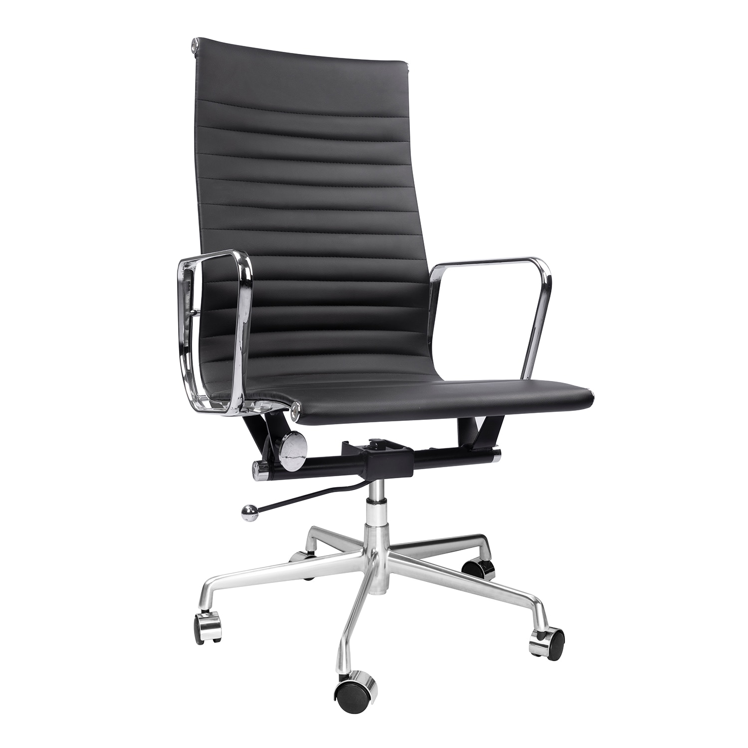 H6a6c63f2af7a41928bc56220b1c03c7dQ - High Back Aluminium Group Office Chair Replica Swivel Chair with Armrests Chromed Base Gaming Chair for Office Meeting Room