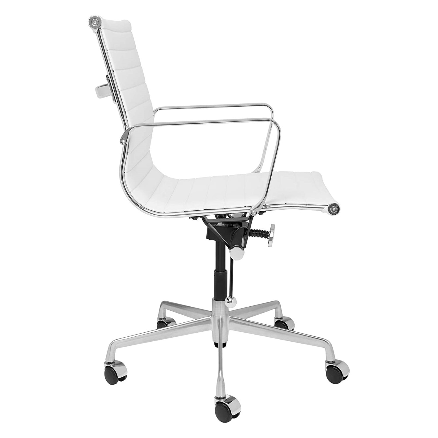 H6c4efb4415ac4317bce9eb8017c744fdt - Furgle Executive Office Chair Mid Back PU Leather with Arms Rest Tilt Gaming Chair Adjustable Height with Wheels Swivel Chairs