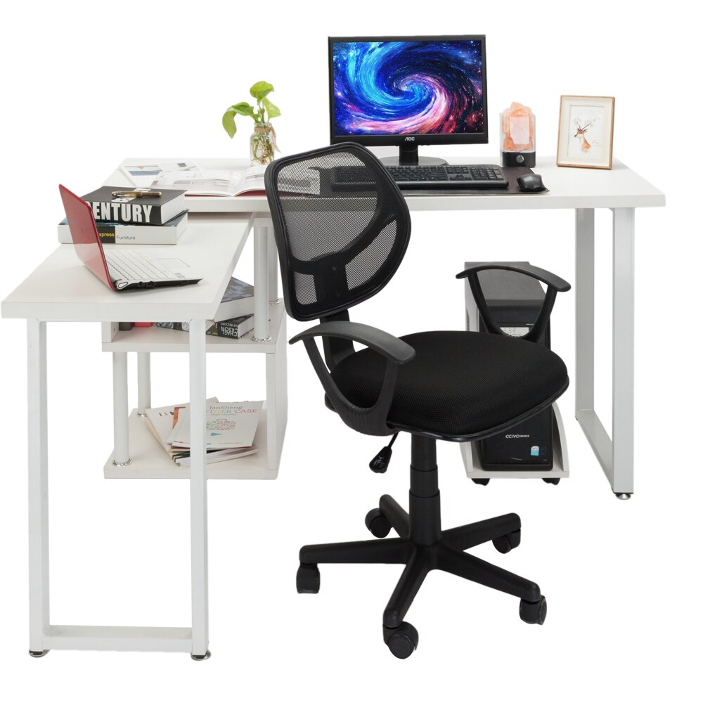H6d643c457a6a43fa95d2d284f3f58075Y - Home Office Chair Household Armchair Lift and Swivel Function Office Computer Study Chair Leisure Mesh Chair-Reclining
