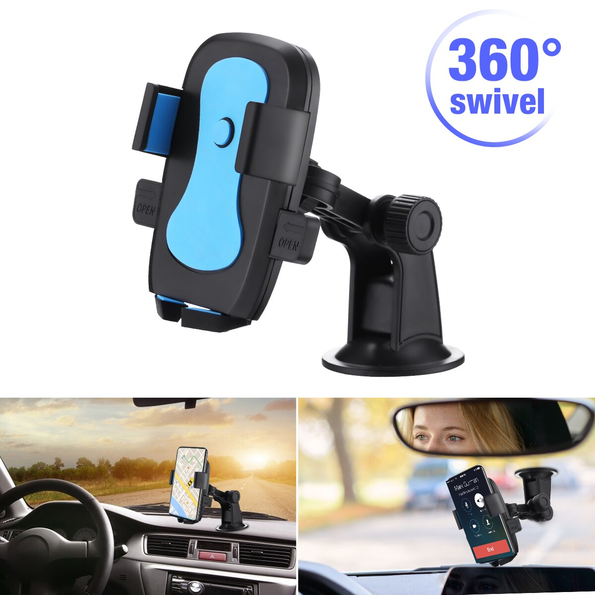 H6e9242d5e91c4990a404c2c48f7441f0P - 360 Degree Rotatable Car Phone Holder For 2.4 to 3.4inch Phone Mount Stand in Car Bracket For Poco x3 pro iPhone Xiaomi Samsung