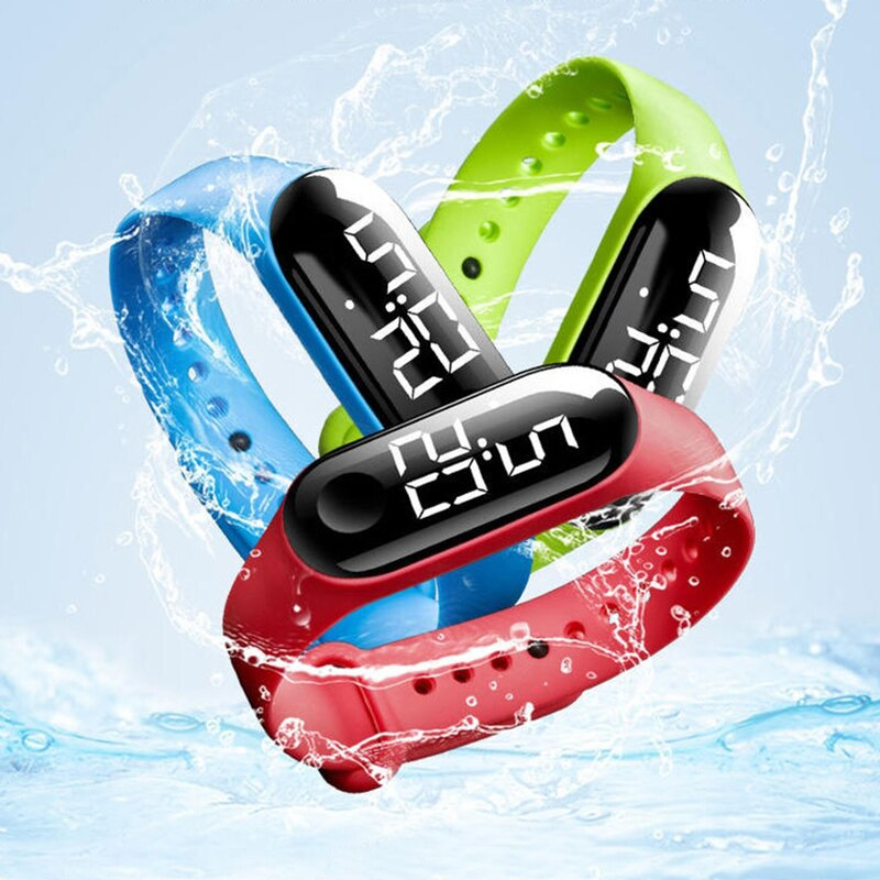 H70bb76f906764071987c904507425e1bt - M3 Led Wristwatch Fitness Color Screen Smart Sport Bracelet Activity Running Tracker Heart Rate for Men Women Silicone Watch