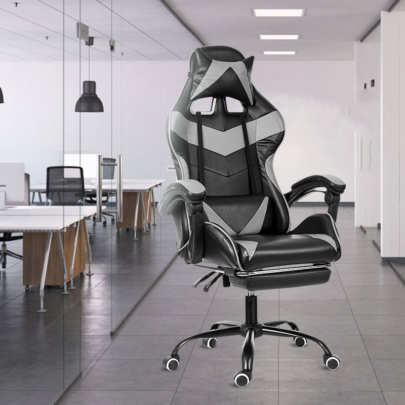 H71037975335146c5921699804aac628dR - Office Chair WCG Computer Gaming Chair Reclining Armchair with Footrest Internet Cafe Gamer Chair Office Furniture Pink Chair