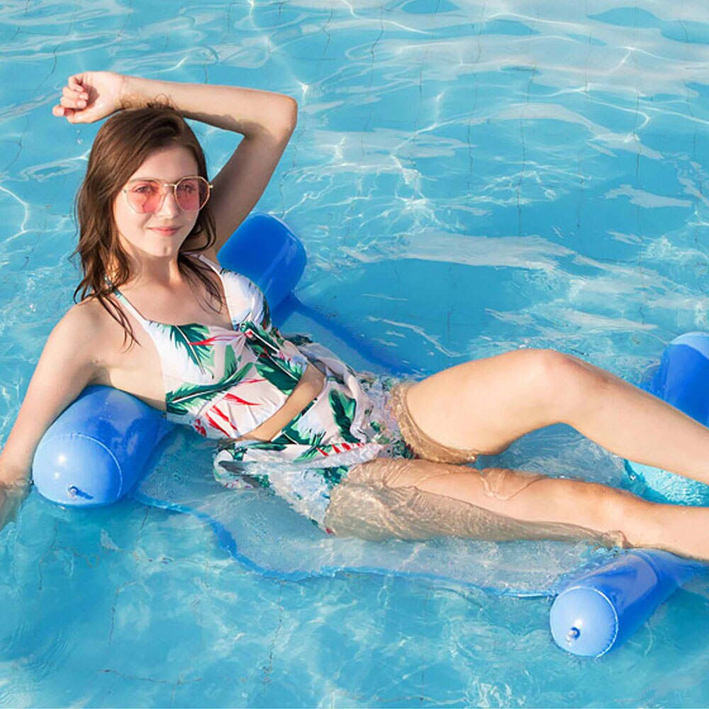 H7255d290461d441993b7847de3857eb8W - 2021 New Water Hammock Recliner Inflatable Floating Swimming Mattress Sea Swimming Ring Pool Party Toy Lounge Bed for Swimming
