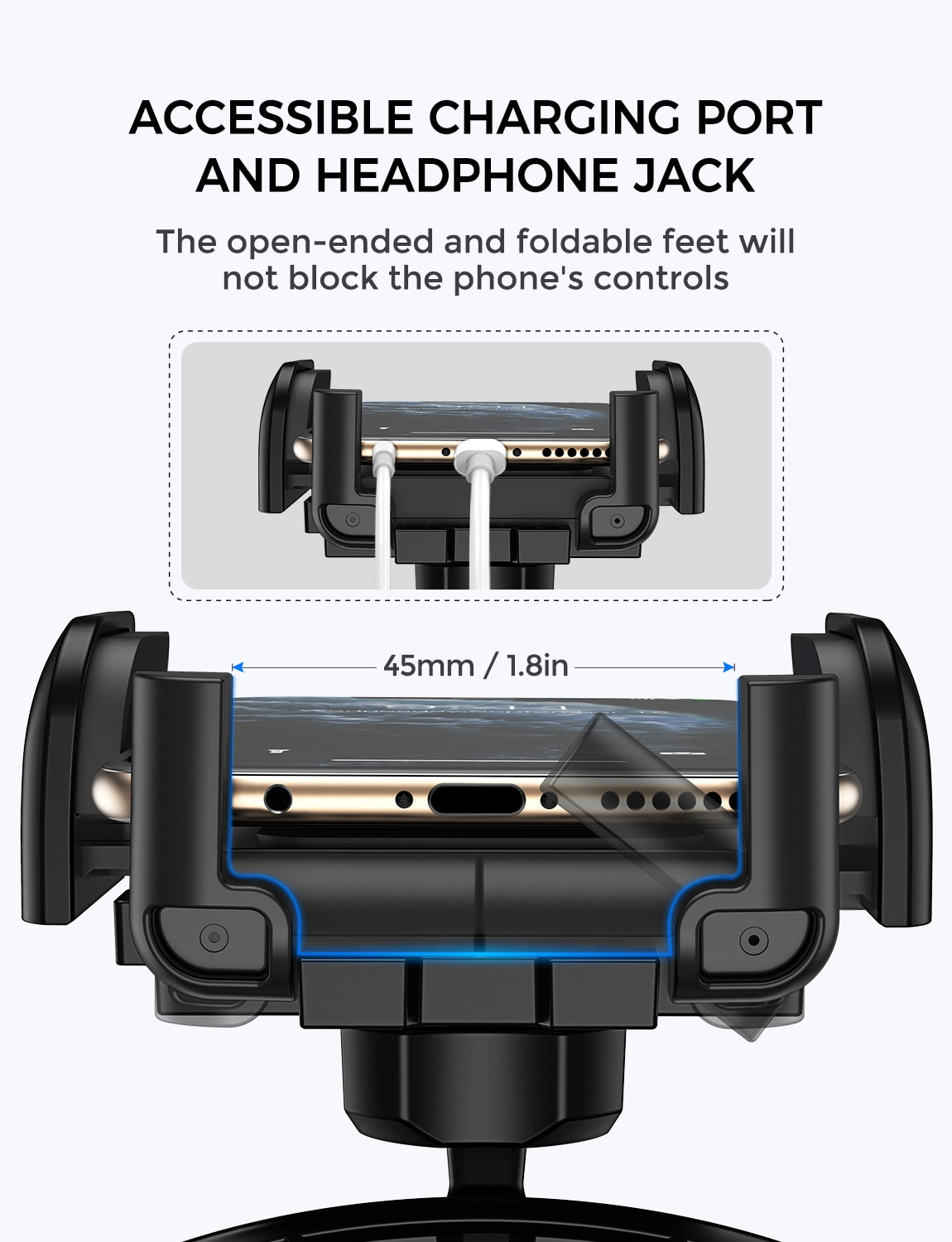 H745411354219418c8367e77aef3978bcr - Mpow MCM3 CD Slot Car Phone Holder Car Mount Holder Stand 360 Rotation Mobile Phone Holder Stand for iphone 12 XS Samsung Huawei
