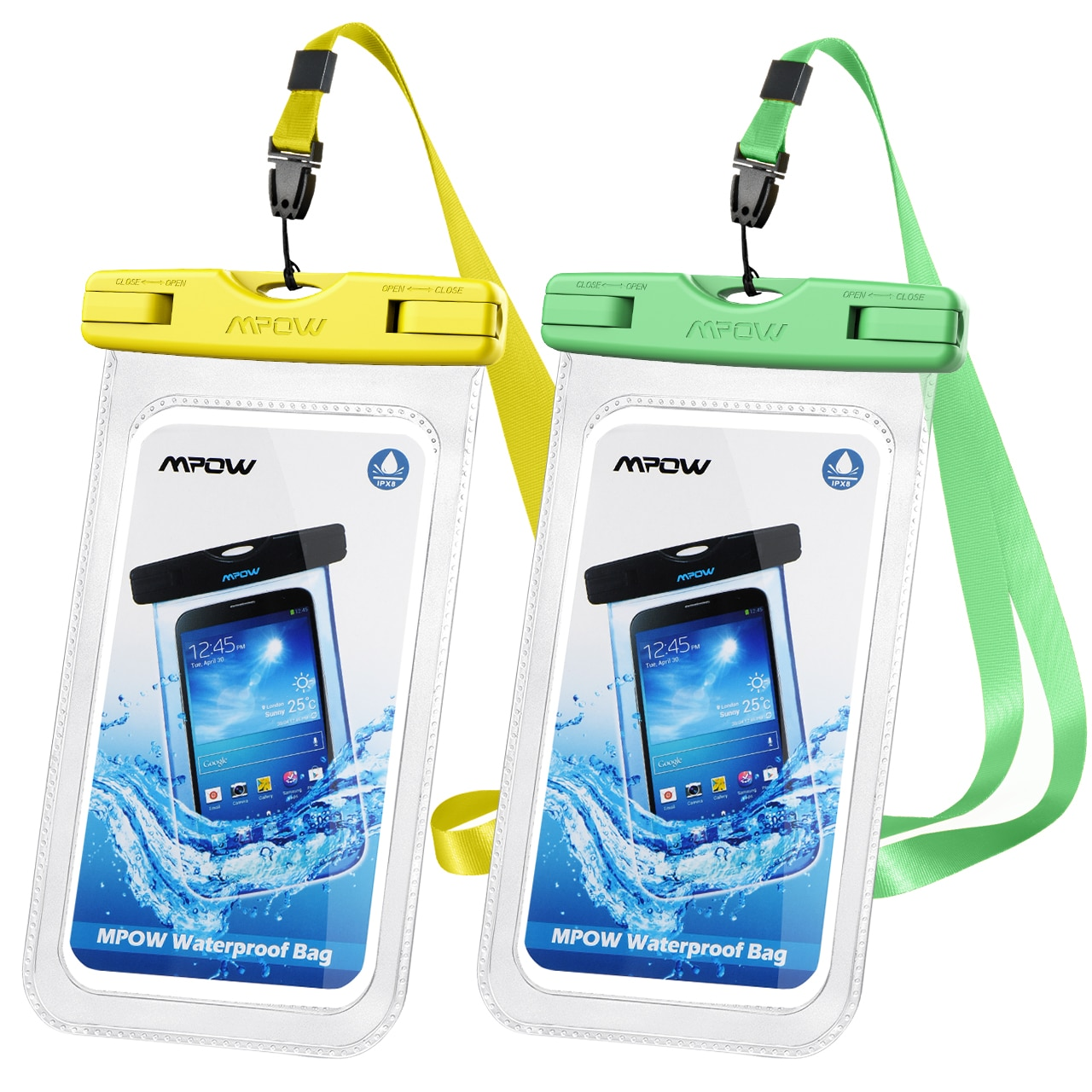 H7638d21360a748a0bcc716e8e809692e3 - 2PCS Mpow 097 IPX8 Waterproof Phone Bag Pouch Case Universal for 7.0 inch Phones Home Button Cutout Take Photo Underwater IP68