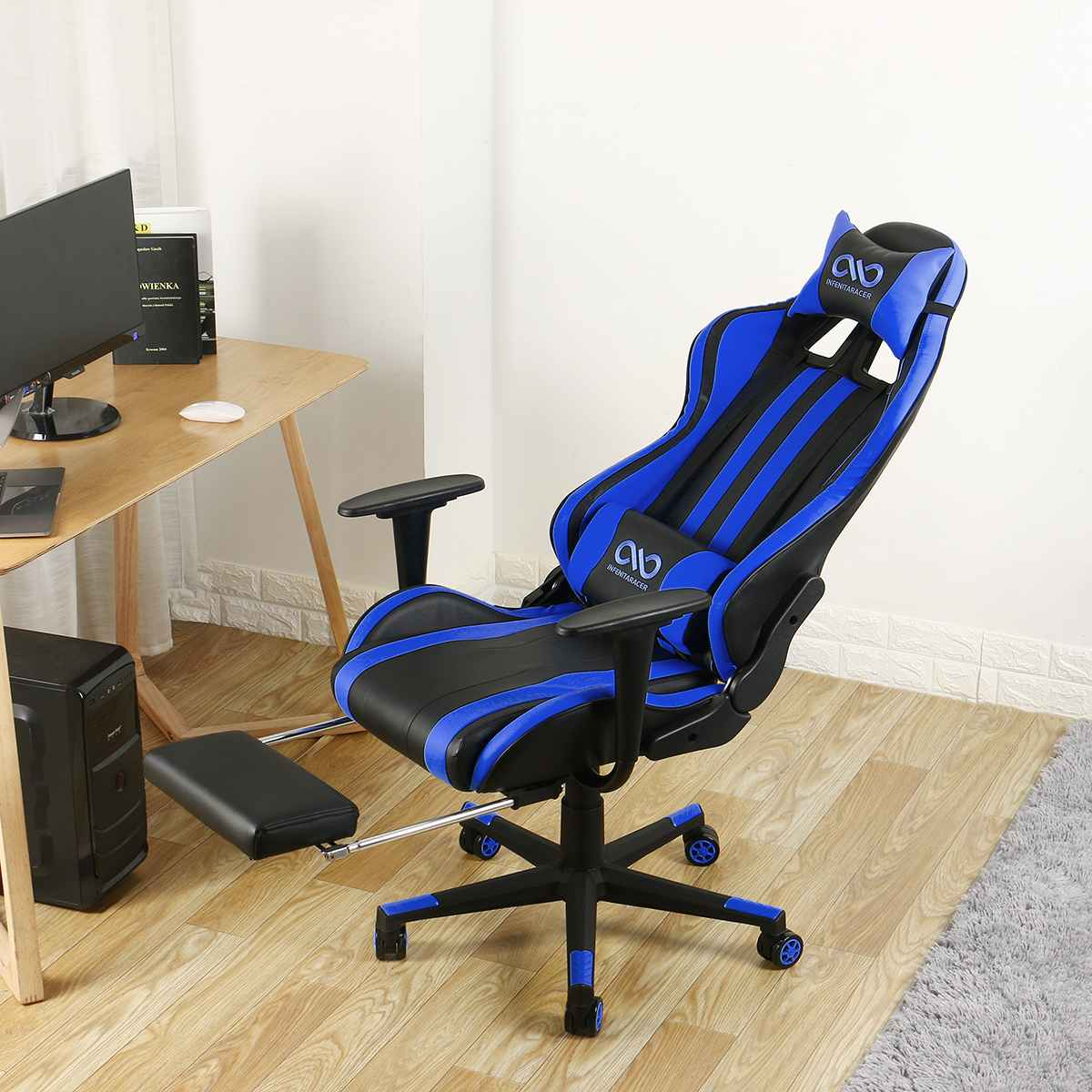 H785ef18604de4b4191e892bc93e9a2ba8 - Office Gaming Chair PVC Household Armchair Lift and Swivel Function Ergonomic Office Computer Chair Wcg Gamer Chairs