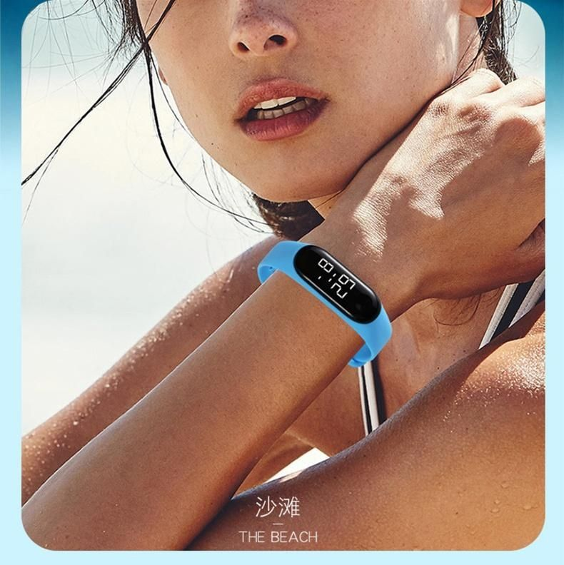 H78792fbf48854f1a9ebe0e2c284d0b068 - M4 Men's Watch Women's Clock Heart Rate Blood Pressure Monitoring Tracker Fitness Wristband Bluetooth Connection Waterproof $^$