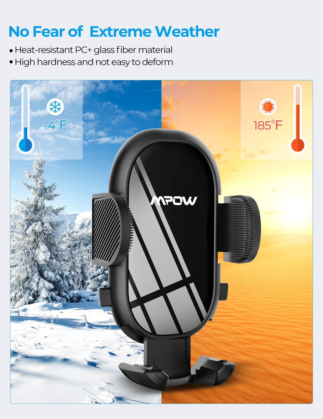 H7b0fa01ade15410ebd0576bef0e63e83u - MPOW CA163 Universal Air Vent Car Phone Mount with Stable Clip and Dual Release Button Compatible with iPhone 12 11 Pro and More