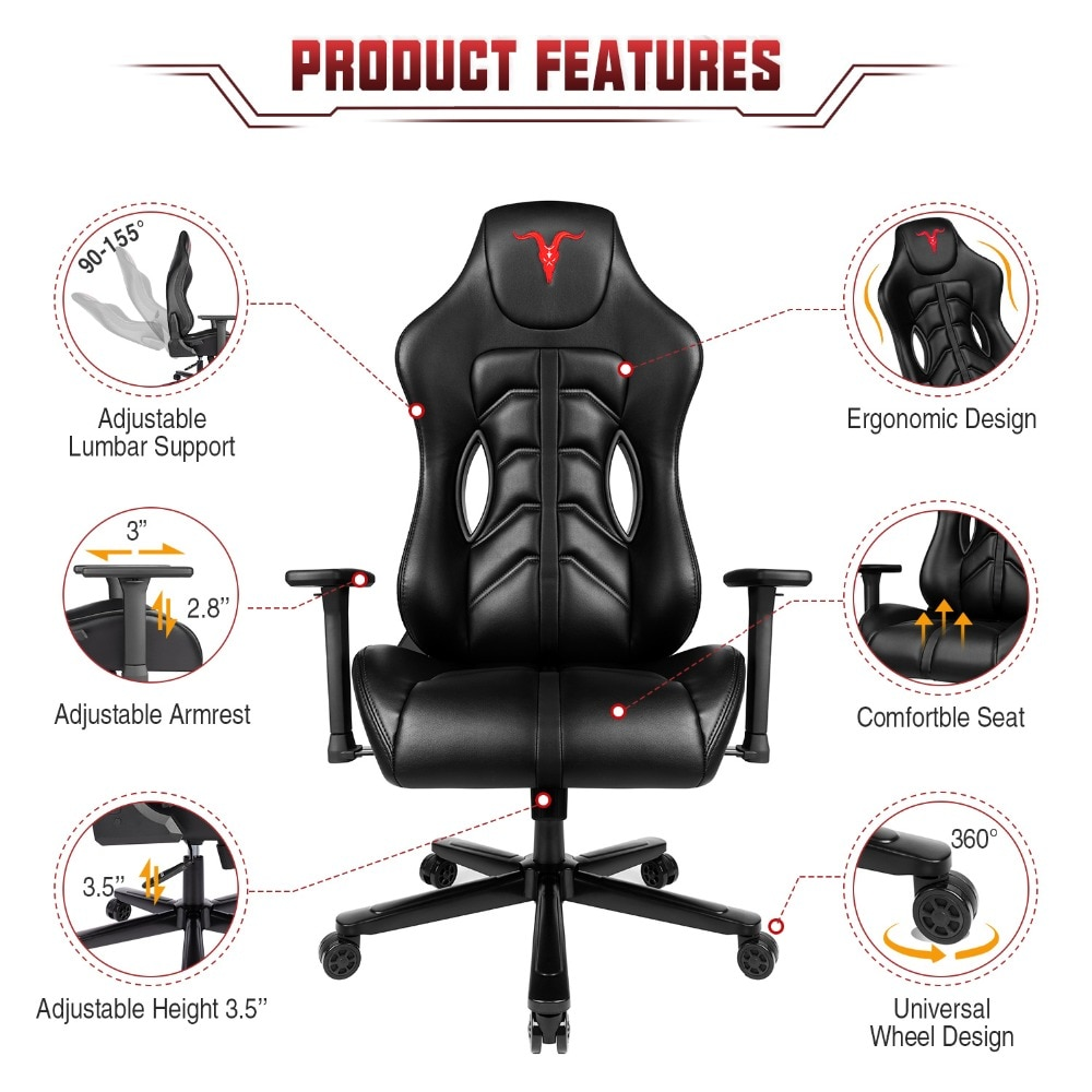 H7d39191576ef4efbb85a191a0df2c23f3 - Furgle ACE Series Office Chair 4D Armrest Gaming Chair Larger Seat Wider Back Side Computer Chair Swivel Leather Armchair Home