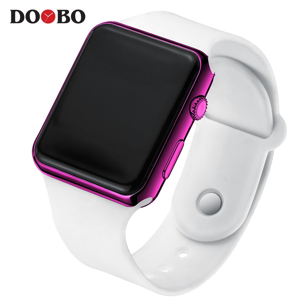H7e0a49d070b6494ba8822dd2912c1594Z - Fashion Men Watch Women Casual Sports Bracelet Watches White LED Electronic Digital Candy Color Silicone Wrist Watch Children