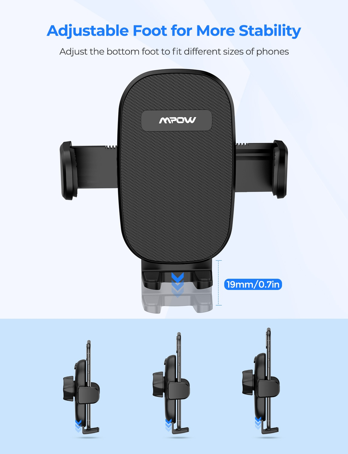 H7e6c0031147346e3a2f16eba2f283910p - MPOW CA158 Phone Mount Adjustable Cup Holder Car Mount with Long Gooseneck 360 Degrees Rotation Compatible with iPhone Galaxy
