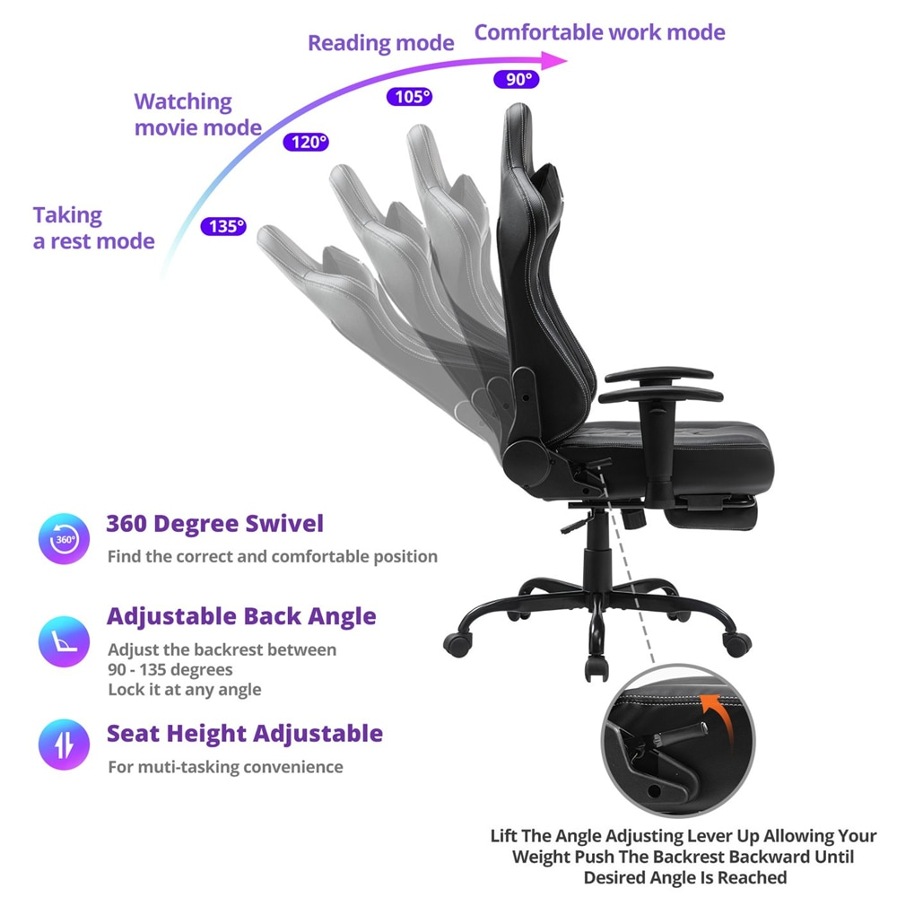 H7e751686e83d4f87a2492a238ed8ec24U - Gaming Chair Office Chairs Silla Gamer Comfortable Executive Seating Racer PU Leather Game Chairs