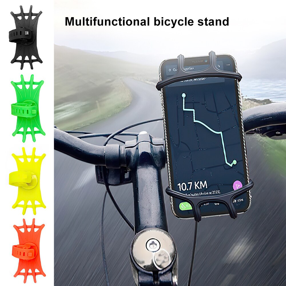 H80745199d489416893ef12a21fb05adcT - Bike Phone Holder Silicone Phone Mount Universal for Bicycle Motorcycle Handlebar Stretchy Phone Holster with 360 Rotation