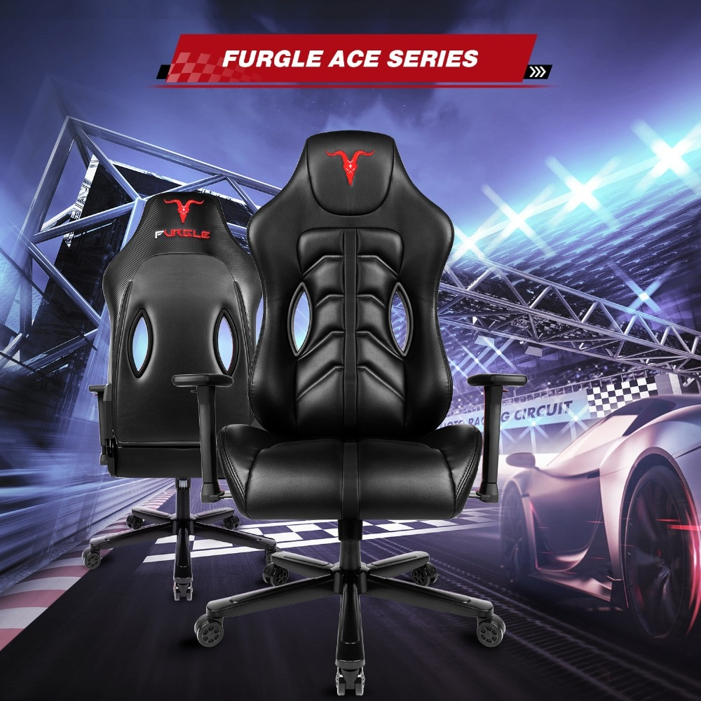 H80fccdbea5a54769933dbe9350e1595de - Furgle ACE Series Office Chair 4D Armrest Gaming Chair Larger Seat Wider Back Side Computer Chair Swivel Leather Armchair Home