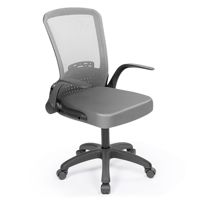 H8229bcebf0a14a489726cd929d137a95n - Rotating Mesh Chair Breathable Adjustable Height Foldable Computer Chair Ergonomic Executive Black Office Chair Furniture