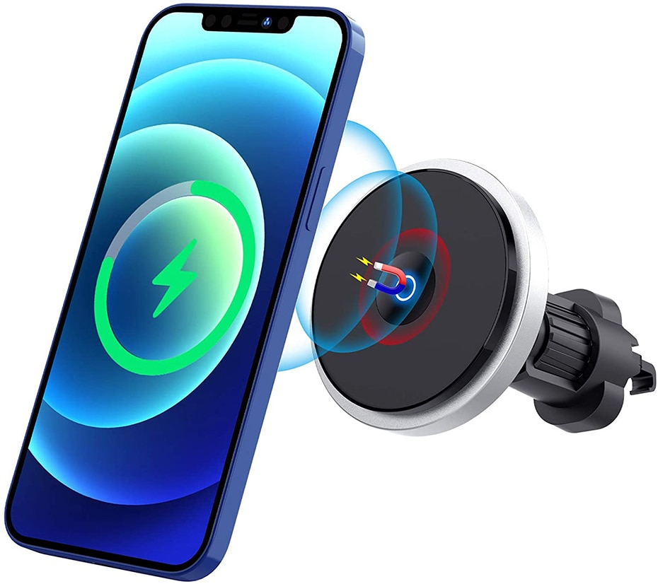 H8229c488e7ef44f4a5038c6d4c21367aY - Bonola Qi 15W Wireless Car Charger For iPhone 12/11/8 Plus/Samsung/Xiaomi Car Smart Phone Charging Holder 15W Charger on Car