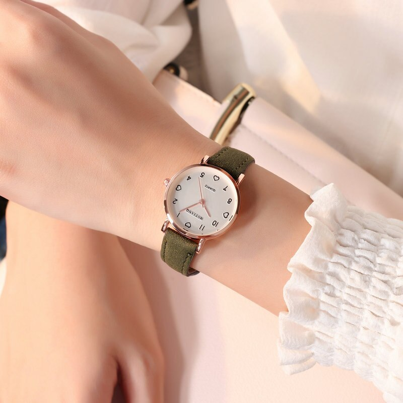 H825ee60e4d9c46bb8a00a95b2a4a5ac4X - Simple Vintage Women Small Dial Watch Sweet Leather Strap Wrist Watches Gift
