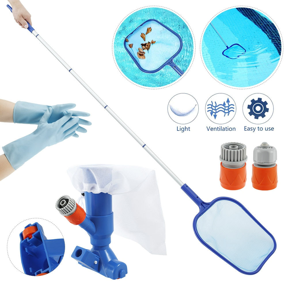 H84304a44cce64b6a87b9203831db2e5bI - Swimming Pool Vacuum Cleaner Cleaning Tool Kit Suction Spary Jet Cleaner Head with Net for Swimming Pool Spa Pond Fountain