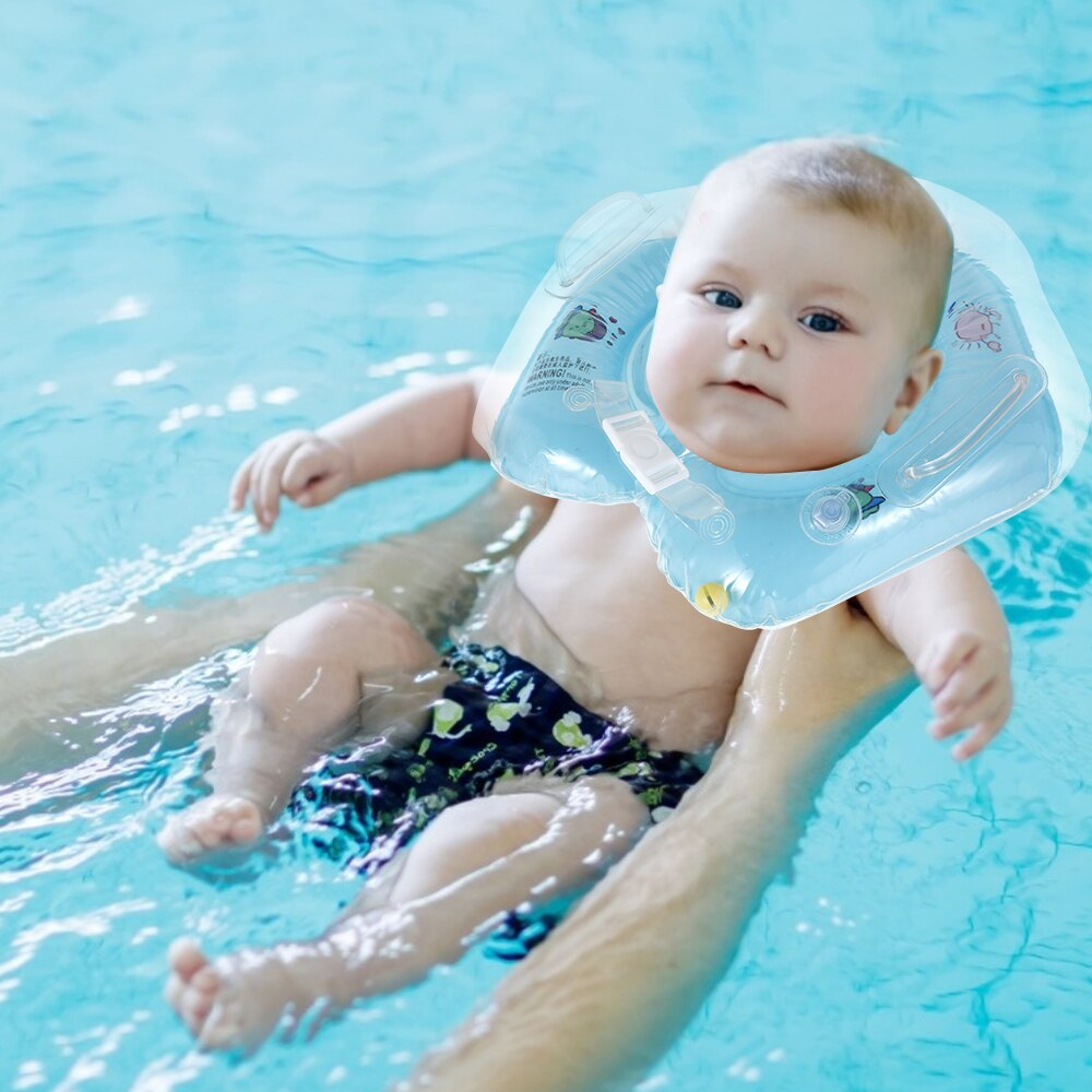 H84ca03a210884d74a0092704347e01b12 - Swimming Baby Accessories Neck Ring Tube Safety Infant Float Circle for Bathing Inflatable Flamingo Inflatable Water