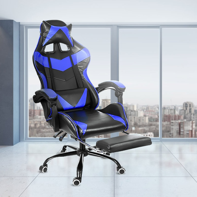 H87373c80e3864edbb9eb5cc7595d7f97K - Office Chair WCG Computer Gaming Chair Reclining Armchair with Footrest Internet Cafe Gamer Chair Office Furniture Pink Chair
