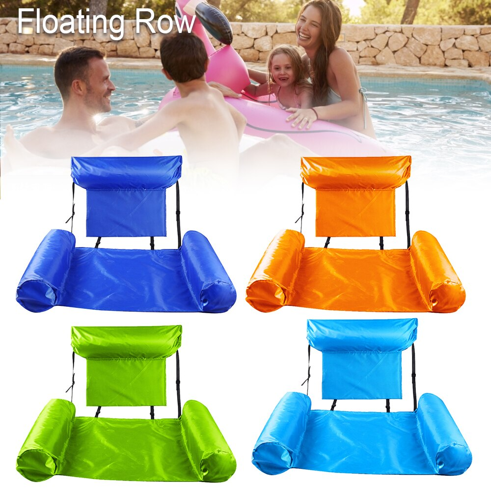 H877f938ba5924caf8c838badacfe65b37 - Inflatable Foldable Floating Row Backrest Air Mattresses Bed Beach Swimming Pool Water Sports Lounger float Chair Hammock Mat