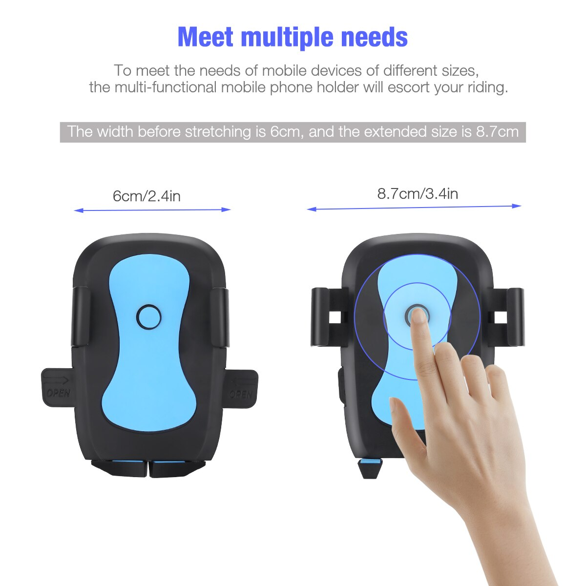 H878ae645e8c84ffeada5f01f5876feaas - 360 Degree Rotatable Car Phone Holder For 2.4 to 3.4inch Phone Mount Stand in Car Bracket For Poco x3 pro iPhone Xiaomi Samsung