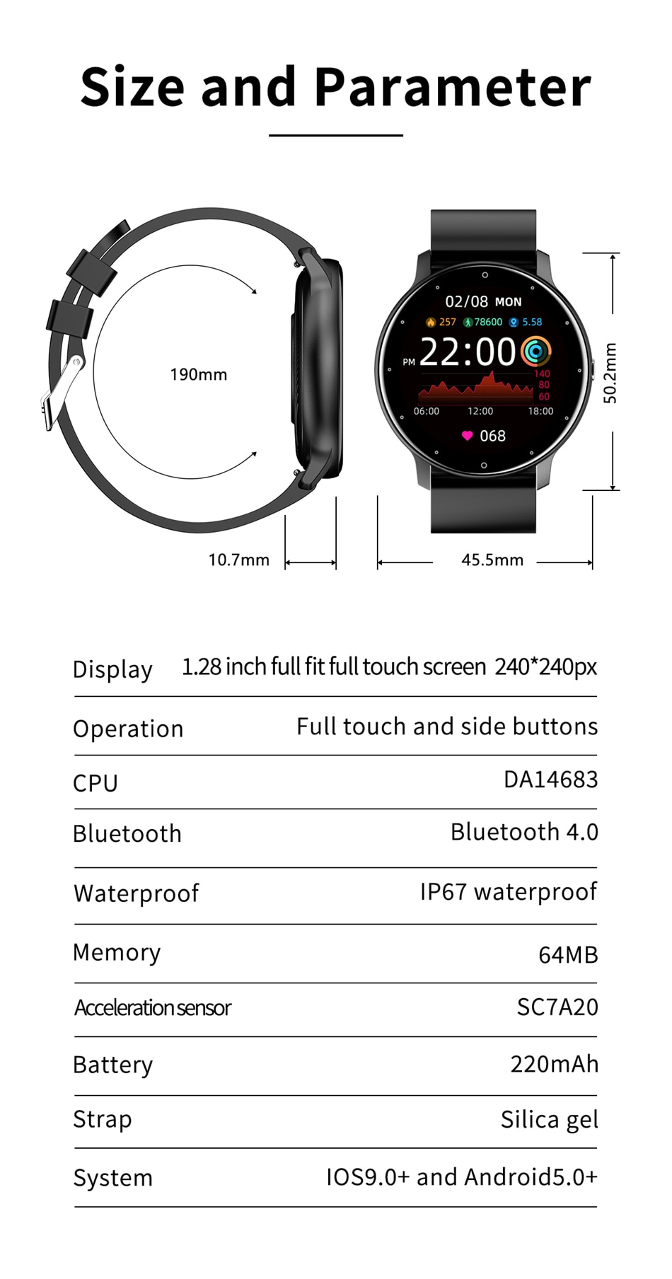 H8999b60b78954e9ca1fc8f75709af5b4T - LIGE 2021 New Smart Watch Men Full Touch Screen Sport Fitness Watch IP67 Waterproof Bluetooth For Android ios smartwatch Men box