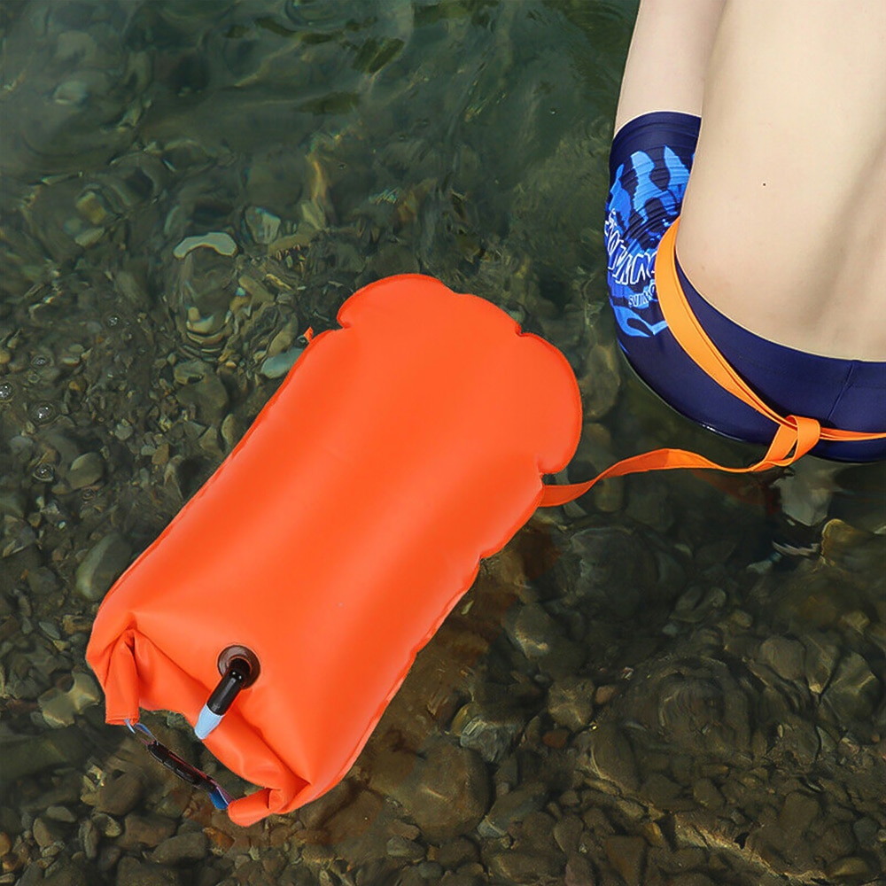 H8b1a207a79f24d888dd488caded9e3c9E - 1pc Float Swimming Bag Floating Inflated Buoy Air Dry Bag Safety Storage Bag with Waist Belt for Rescue Swimming Water Sport