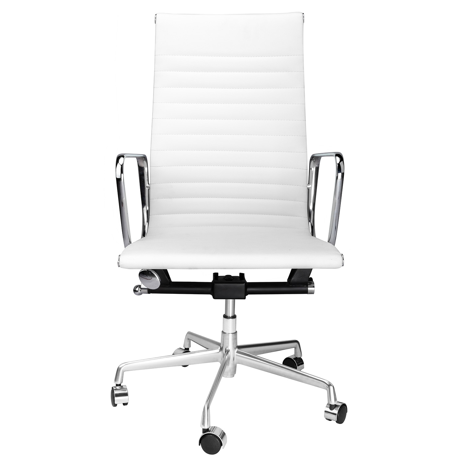 H8b57829979894b97af223d5642429f68I - High Back Aluminium Group Office Chair Replica Swivel Chair with Armrests Chromed Base Gaming Chair for Office Meeting Room