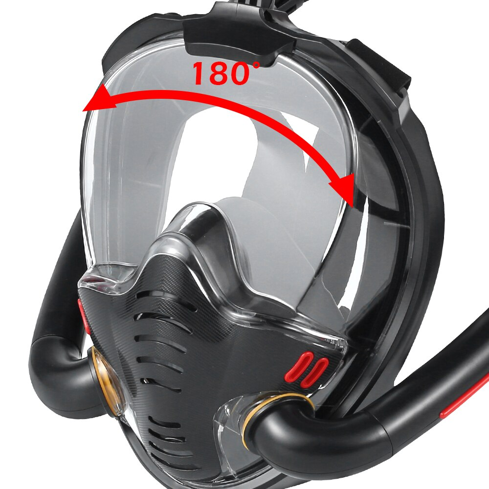 H8babe23e0e794e3280a48f4c18f2e28e3 - Underwater Scuba Anti Fog Full Face Diving Mask Snorkeling Respiratory Masks Safe Waterproof Swimming Equipment for Adult Youth