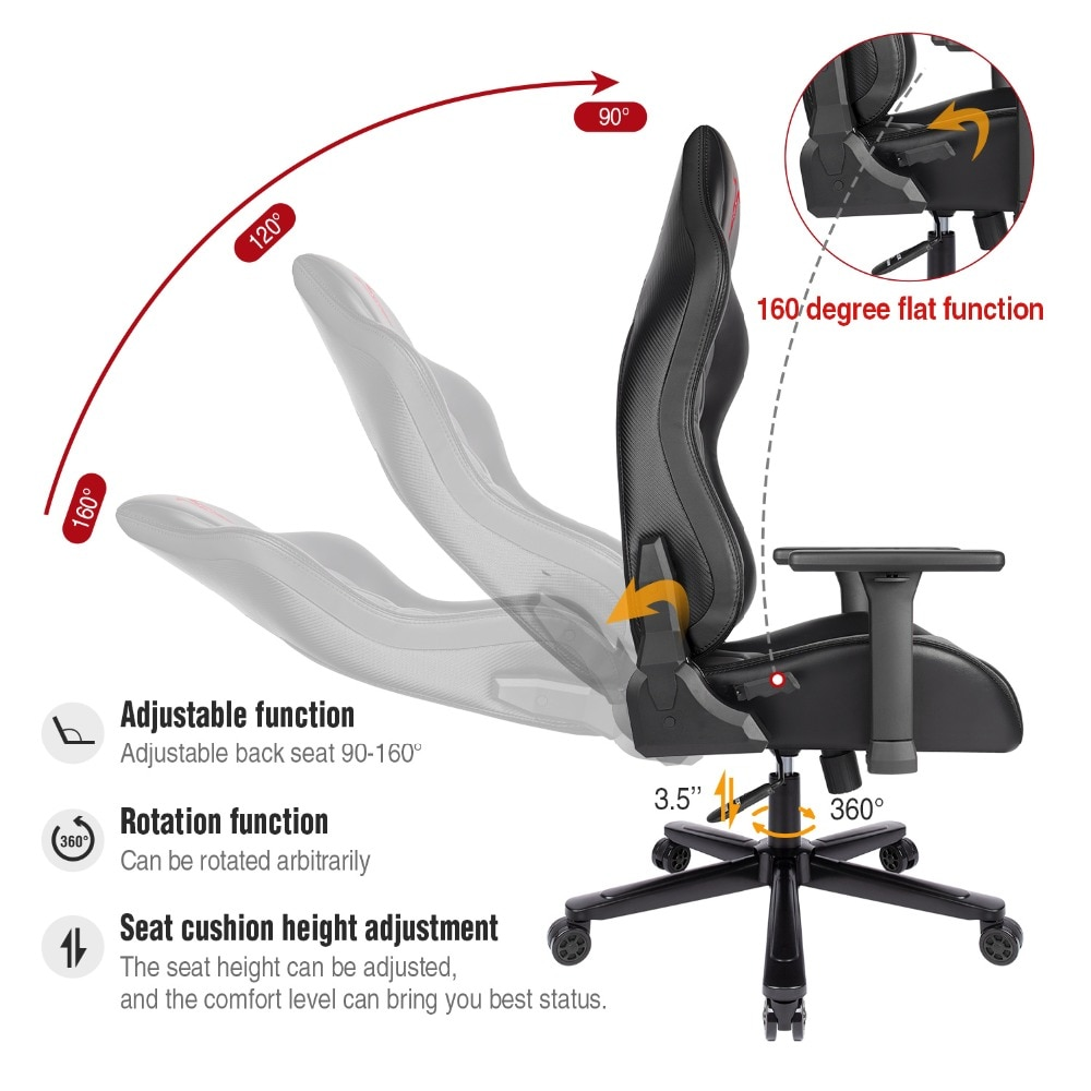H8c72981ba6c54dc98e7039fe95aef7cei - Furgle ACE Series Office Chair 4D Armrest Gaming Chair Larger Seat Wider Back Side Computer Chair Swivel Leather Armchair Home
