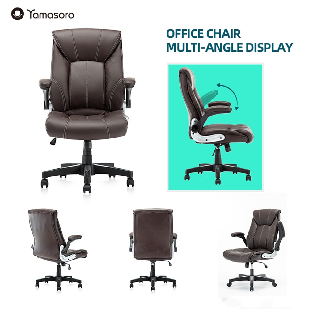 H8c94d4fe107a4a59b21f9f5ecaca38e9C - Yamasoro computer Chair Ergonomic office chairs High-Back Bonded Leather Executive Chair with Lumbar Support PC gaming chair