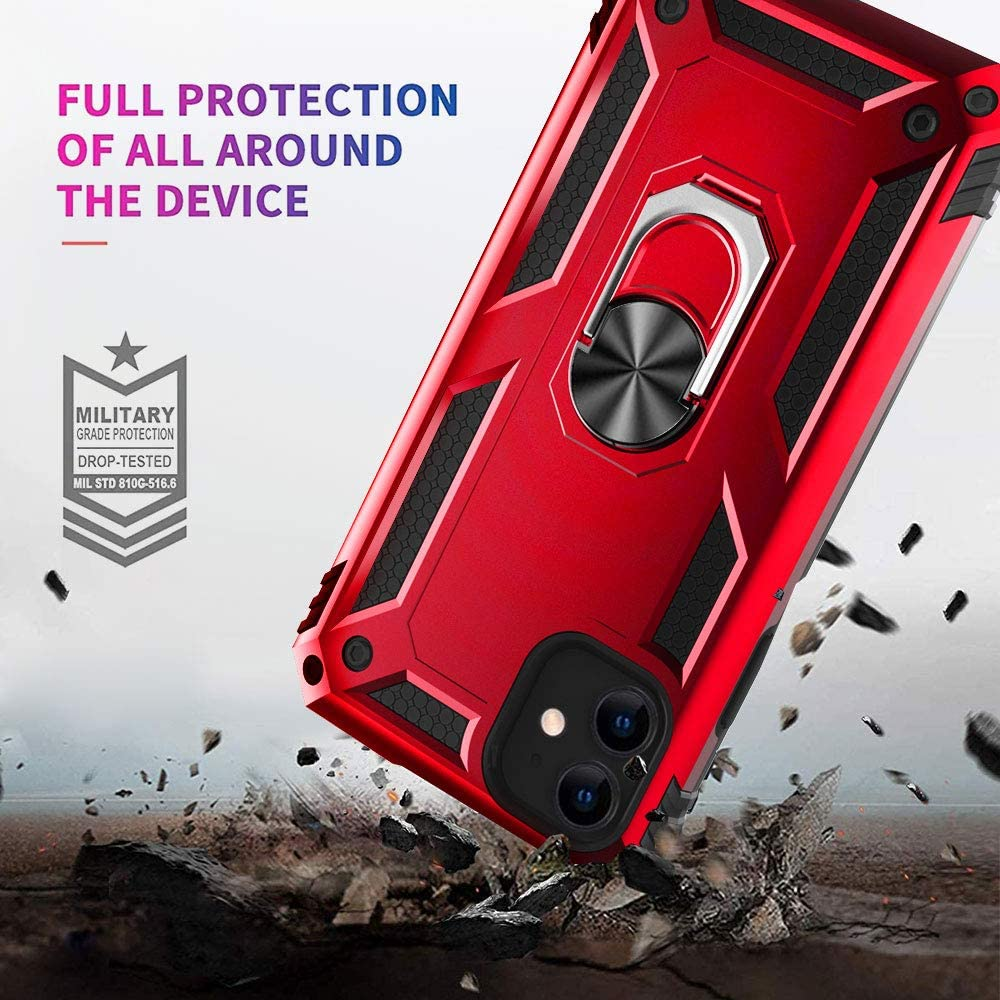 H8d609452c8db4952a0f9083868a0a59eF - for iPhone X XS XR 11 Pro 7 8 Max Case,Military Grade Armor 15ft. Drop Tested Protective Ring Magnetic Car Mount Kickstand Case