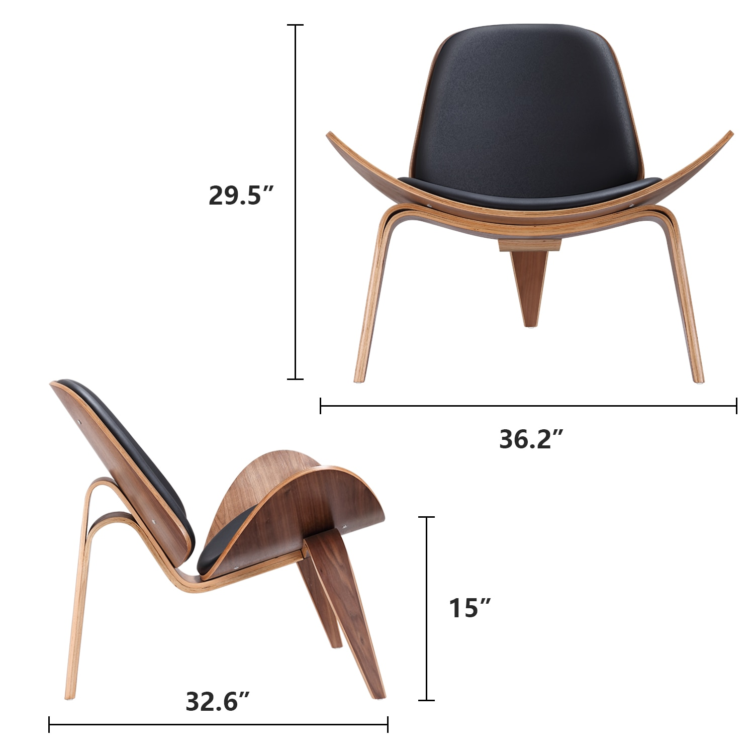 H8e8e1c2a5d884df6ab8b45bff1819801f - Design Furniture Bentwood Chair Hands Wegner Replica Lounge Chair with PU Leather Seat Comfort Cushion Coffee Chair Office Chair