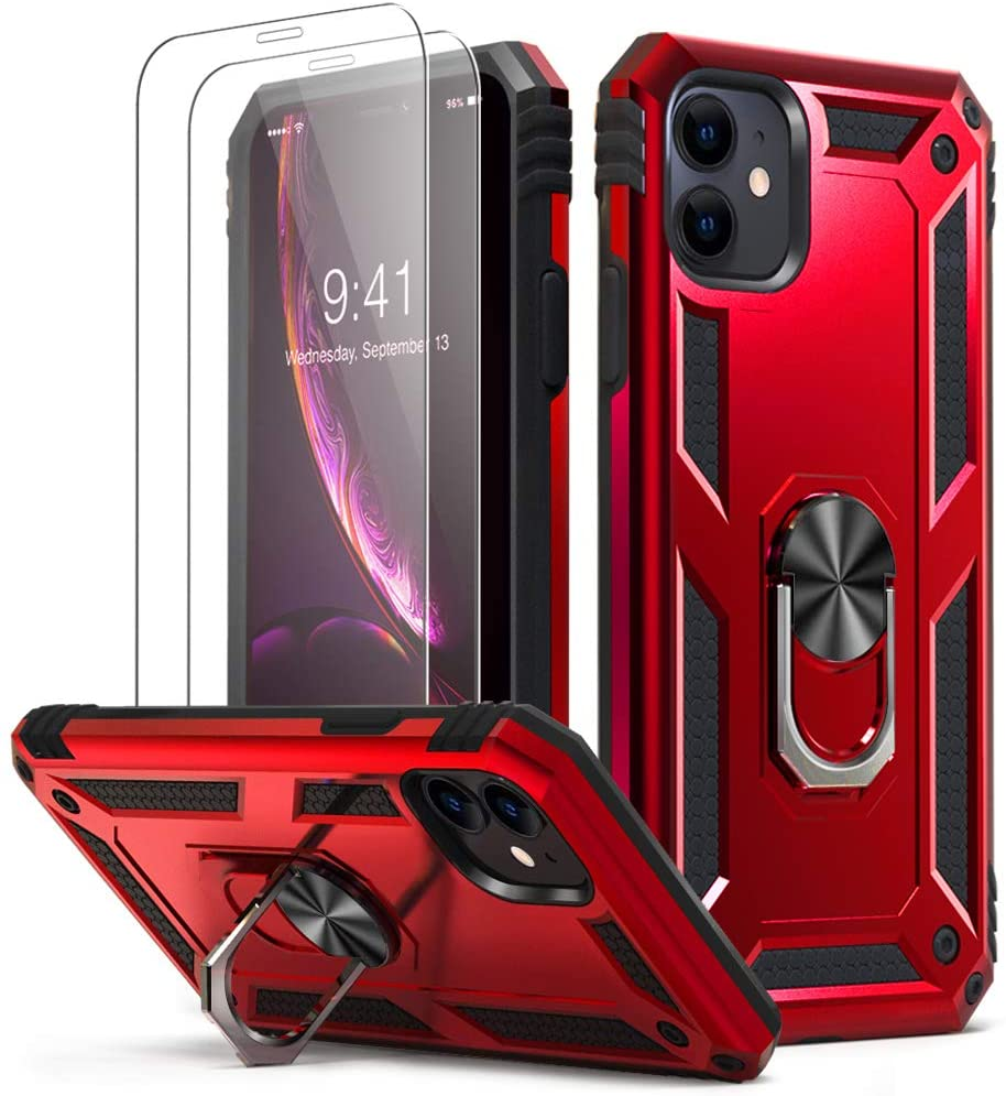 H8ebb1b6a923440e8834ae51fb9025904o - for iPhone X XS XR 11 Pro 7 8 Max Case,Military Grade Armor 15ft. Drop Tested Protective Ring Magnetic Car Mount Kickstand Case