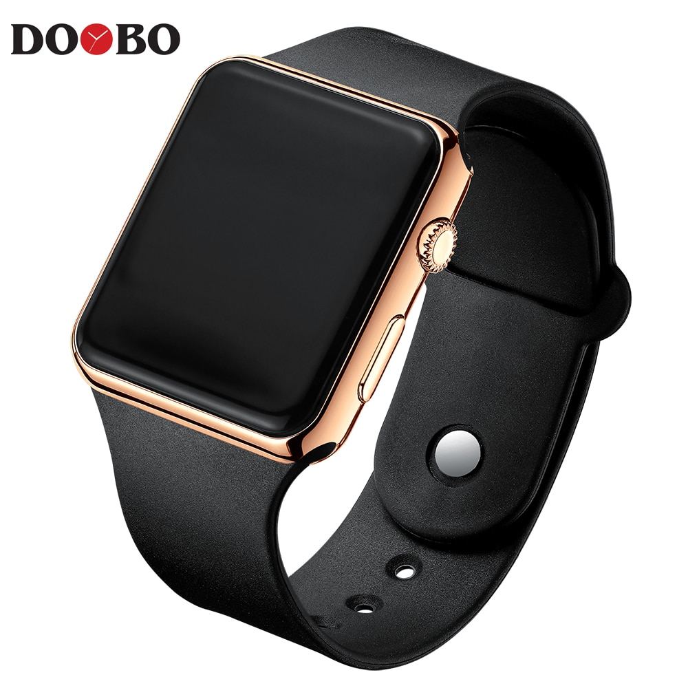 H8f75e364212e49f1bb5a306985709c3e5 - Fashion Men Watch Women Casual Sports Bracelet Watches White LED Electronic Digital Candy Color Silicone Wrist Watch Children