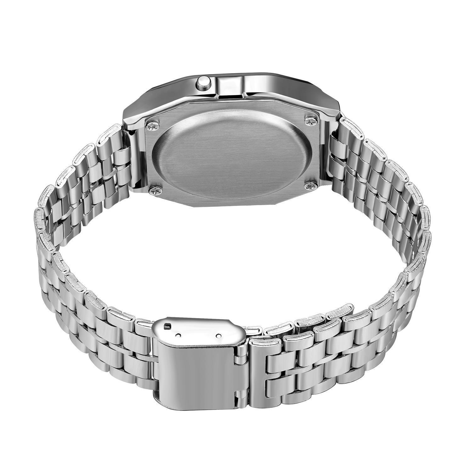 H8fb025ad459848bf9fe09a169b9832665 - F91W Watches Steel Strap Watch Women Men Business Clock Multifunction LED Digtal Sports Wrist Watch Electronic Clock