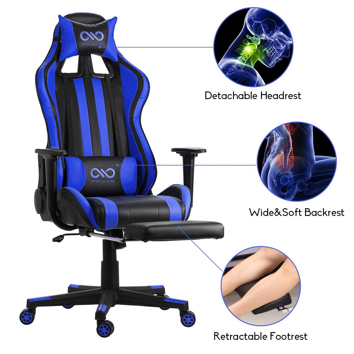 H900071444ed644c3a3e1308082c62912H - Office Gaming Chair PVC Household Armchair Lift and Swivel Function Ergonomic Office Computer Chair Wcg Gamer Chairs