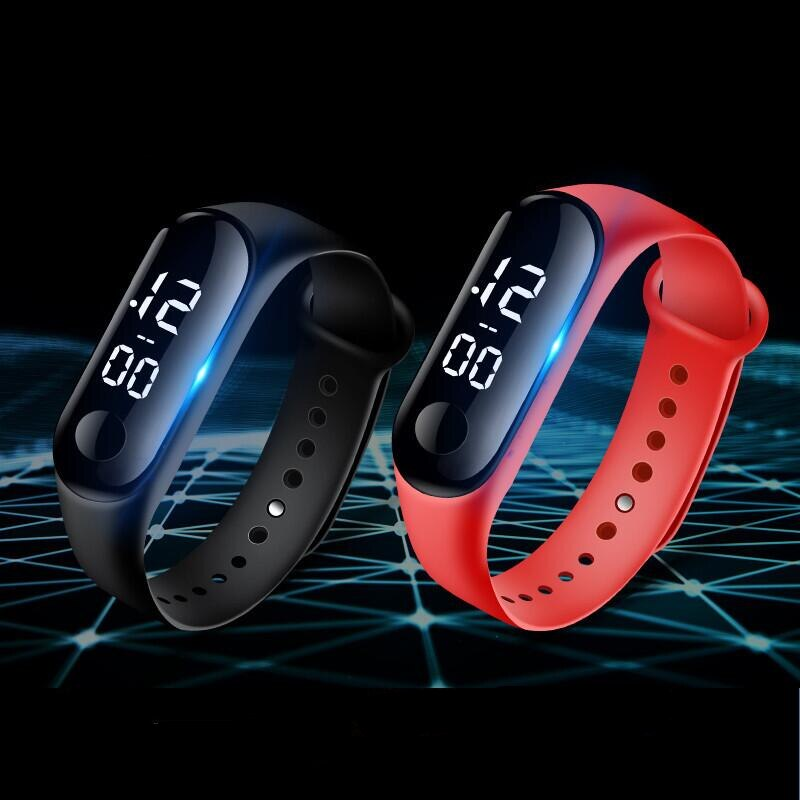 H91fcc4e45d6540dd9f370893b78af7cak - M4 Men's Watch Women's Clock Heart Rate Blood Pressure Monitoring Tracker Fitness Wristband Bluetooth Connection Waterproof