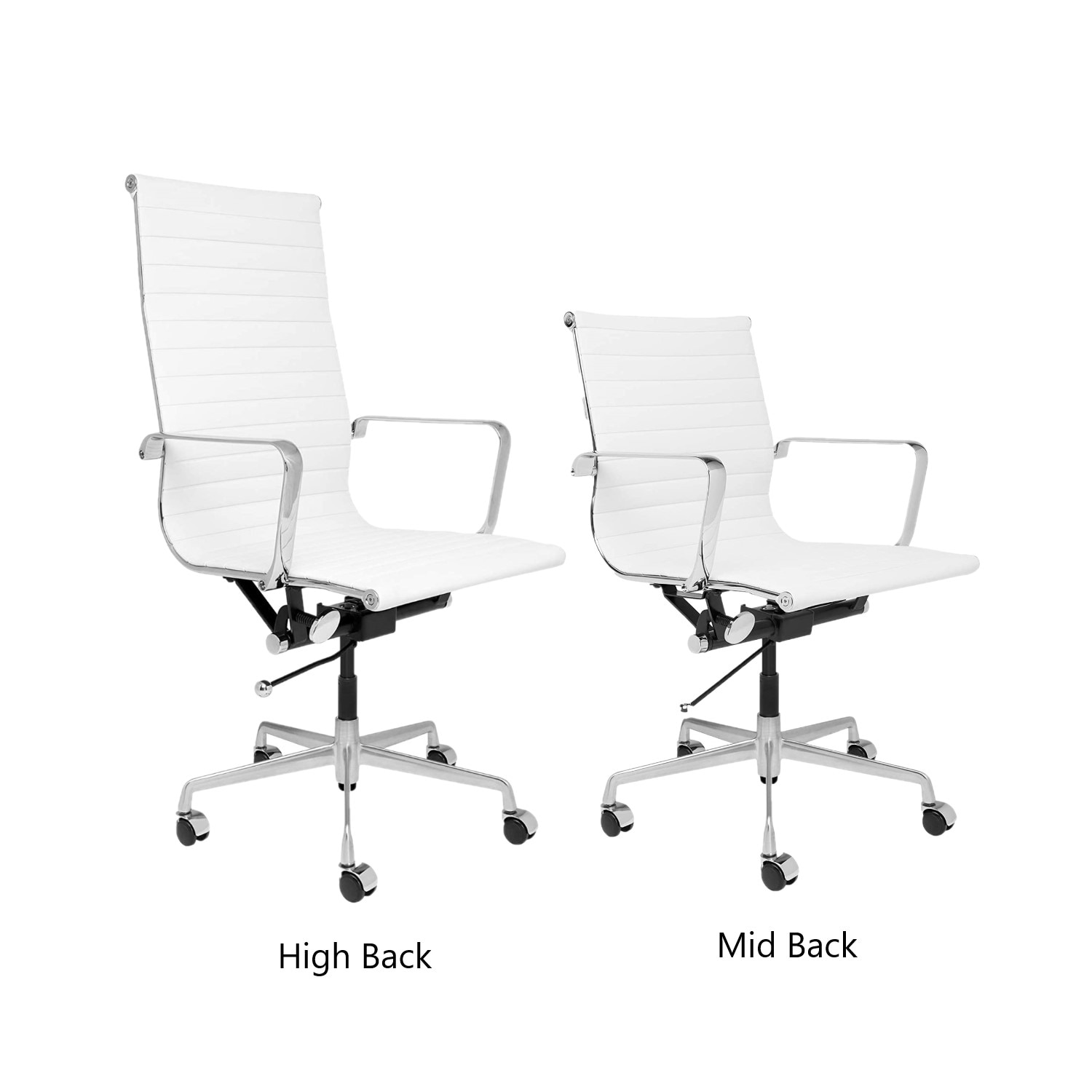 H92426492d0004b459e8ac74ee31c6c08Y - High Back Aluminium Group Office Chair Replica Swivel Chair with Armrests Chromed Base Gaming Chair for Office Meeting Room